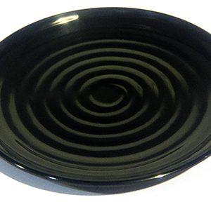 Black Melamac Dinner Plates