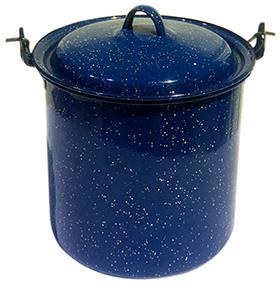 Blue Enamel Serving Pieces
