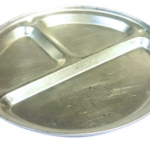 Silver Tin Camp Plate