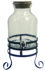 Clear Glass Beverage Dispenser