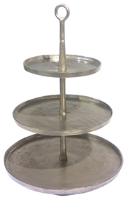 Pewter Three-Tiered Tray
