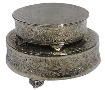 Ornate Cake Stands in Silver
