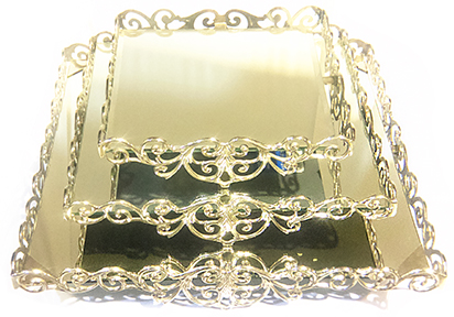 Silver Mirror Cake Stands
