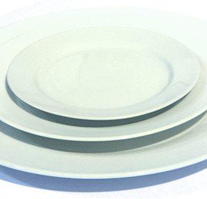 White Round Dishware