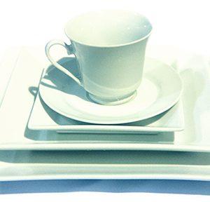 White Square Dishware