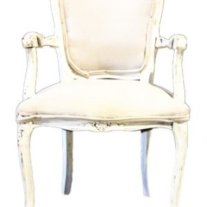 Ivory Linen Side Chair