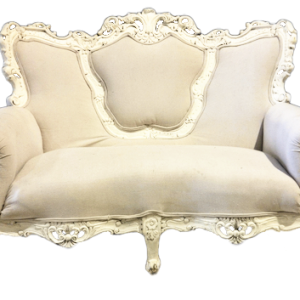 Two-Tone Ivory Love Seat